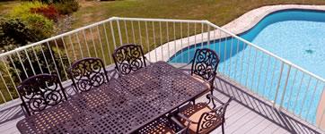 Terrass räcke för balkonger och mezzaniner