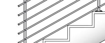 Räcken för trappor och balustrader, för inomhus- och utomhusbruk